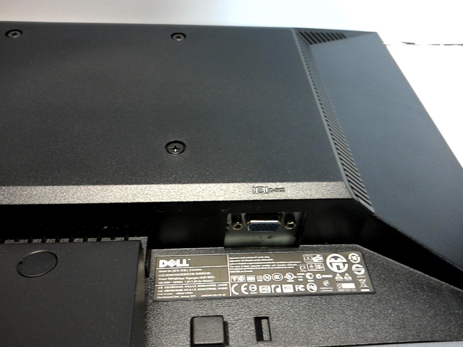 Monitor Power Button : Dell e hc quot widescreen lcd monitor w vga power