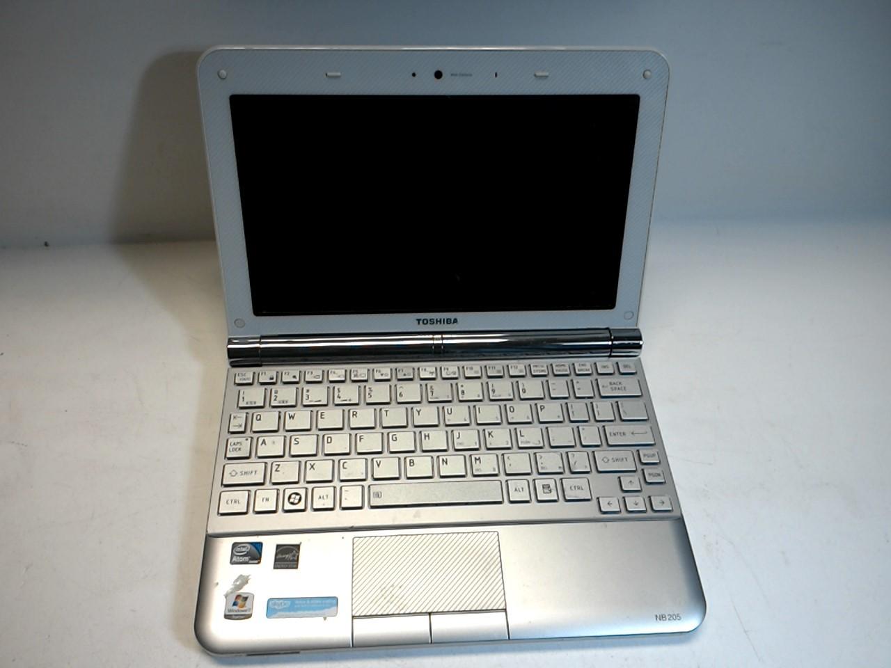Toshiba NB205-N325WH Netbook Intel Atom CPU N280 1.66Ghz 1GB 160GB Wiped W/PSU - eBay