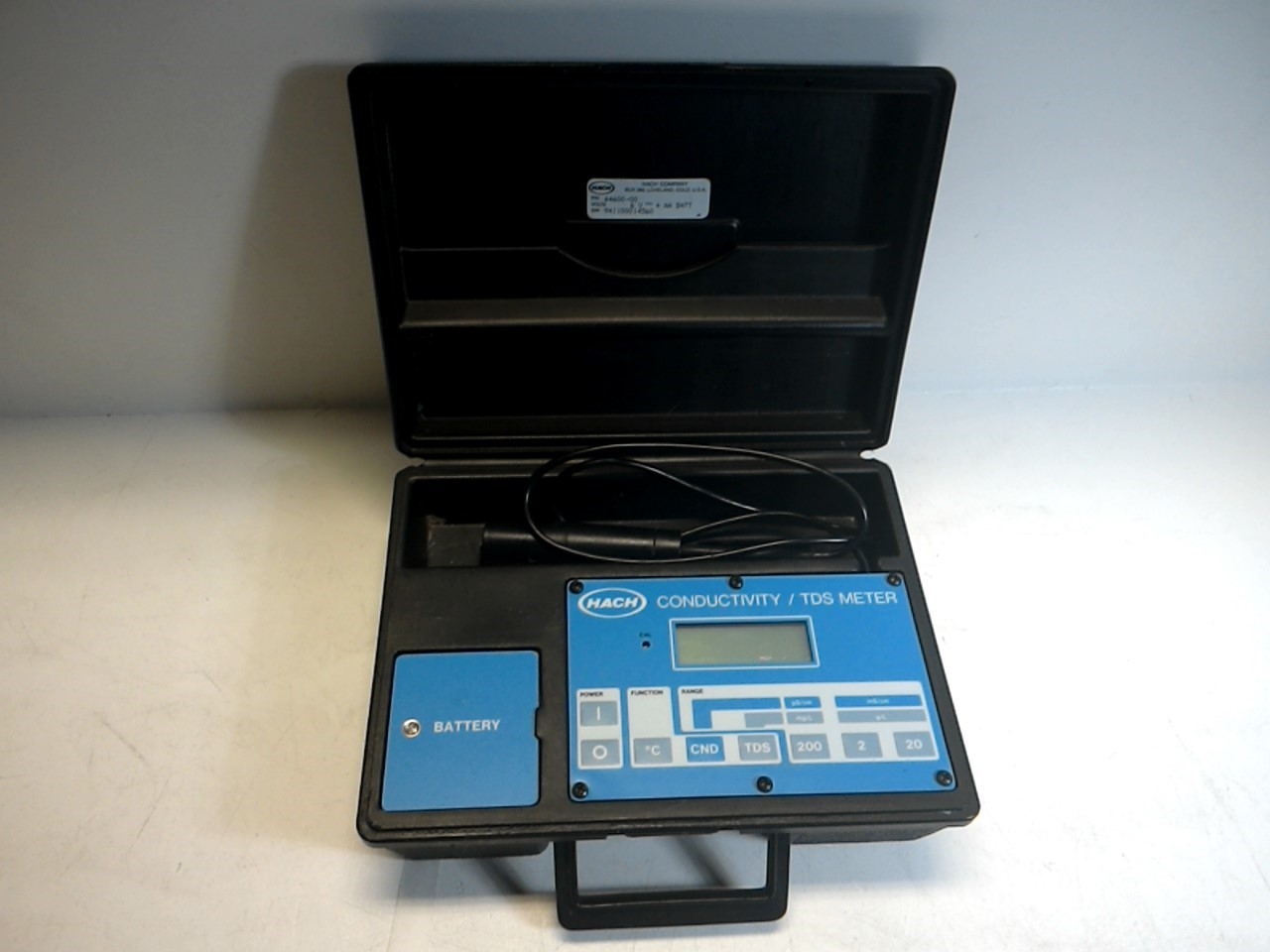 Parts Of Conductivity Meter : Hach model conductivity tds meter bad probe as is