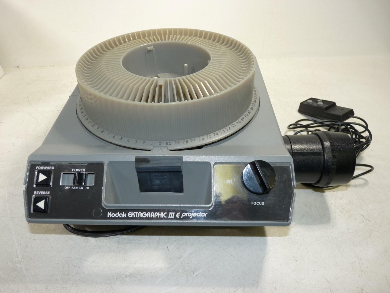 kodak ektagraphic iii e projector 100 150mm f3 5 zoom lens w rh ebay com
