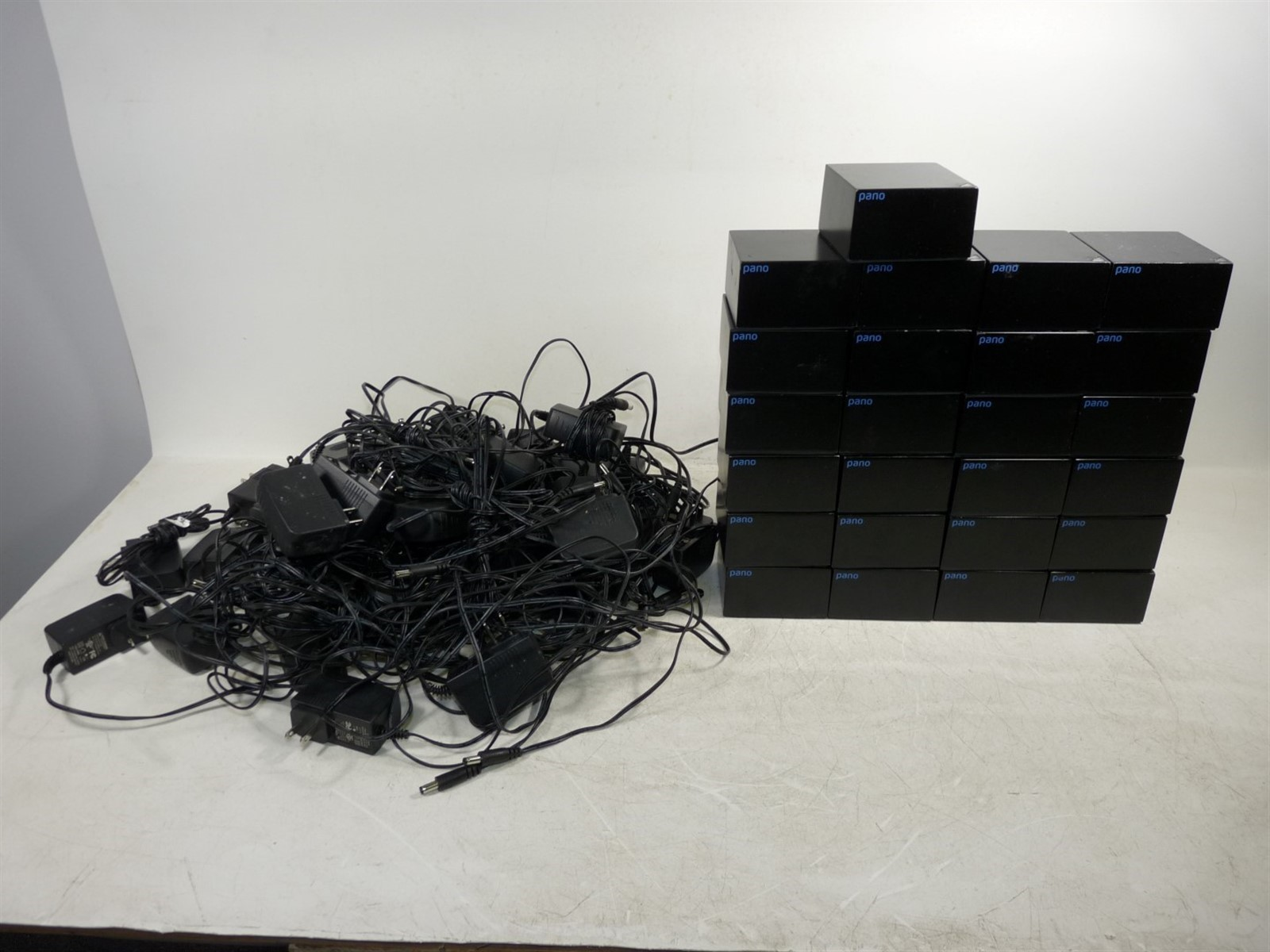 Lot Of 25 Pano Logic Thin Zero Desktop Client Black W Supply Used
