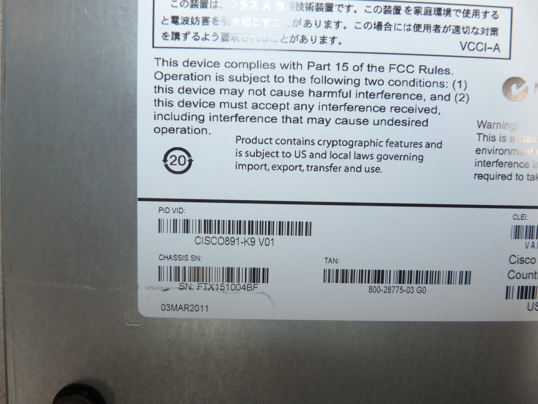 Cisco 891 Cisco891-K9 V01 PoE 8-Port Gigabit Wired Router (No PSU ...