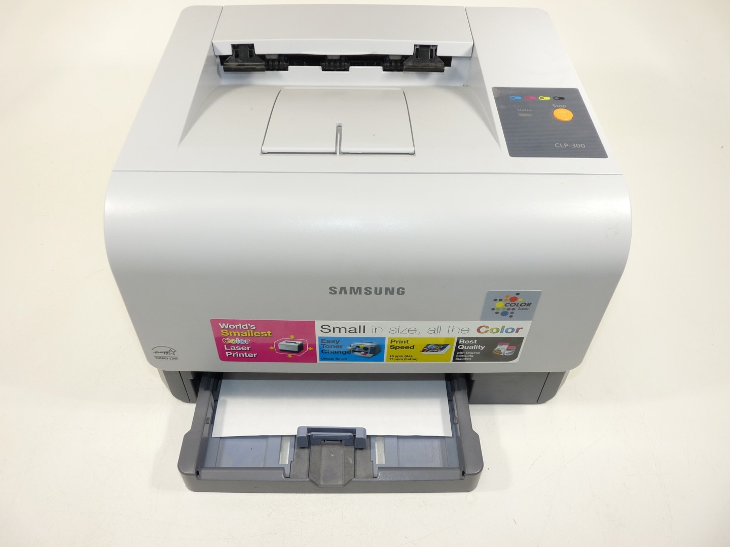 Samsung CLP-300 Color Laser Printer w/Test Page 2k Page Count | eBay