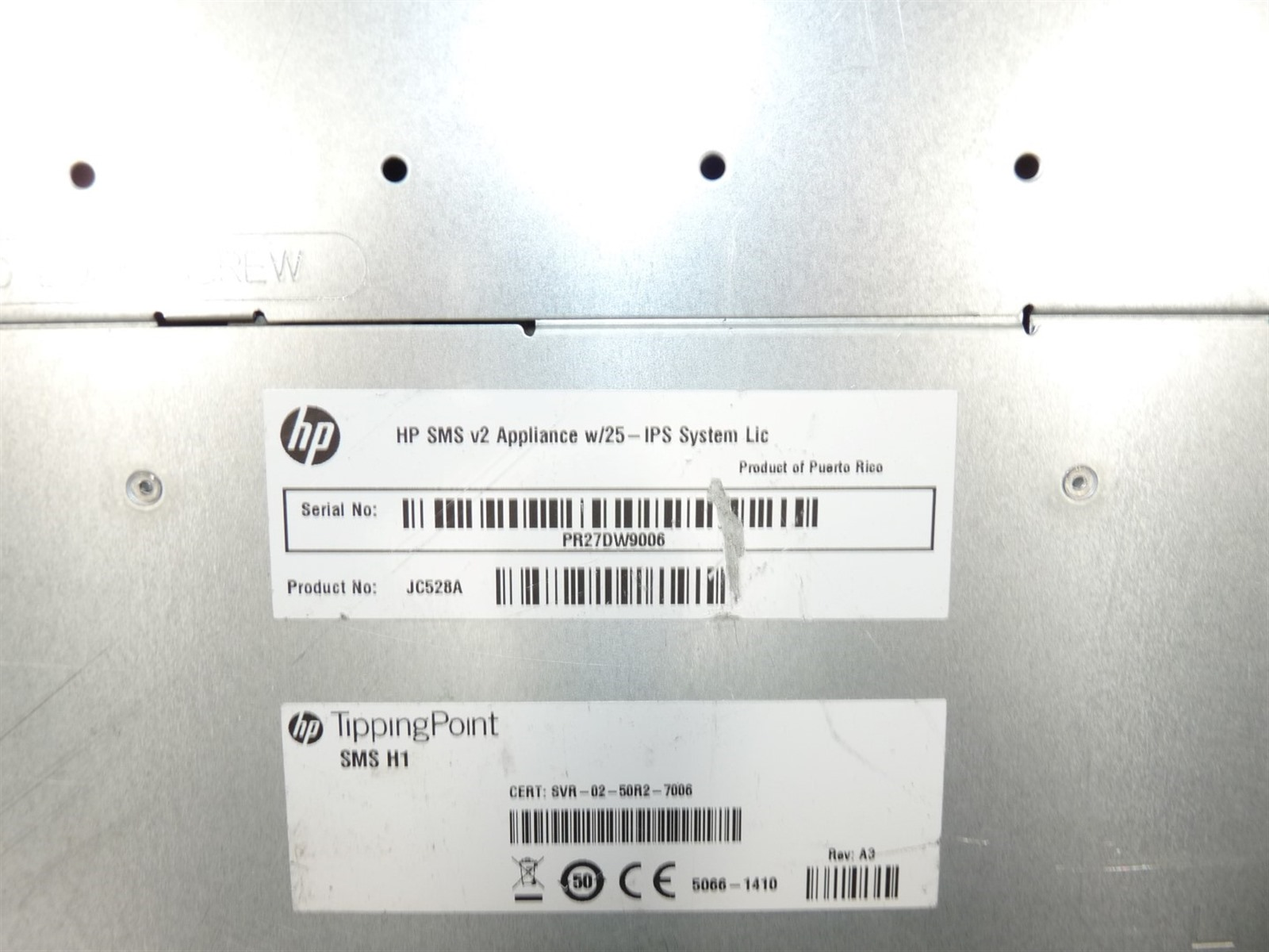 Details about HP TippingPoint SMS H1 v2 JC528A 1U Server Xeon(E5620  QC)2 4GHz 6GB 0HD Boots
