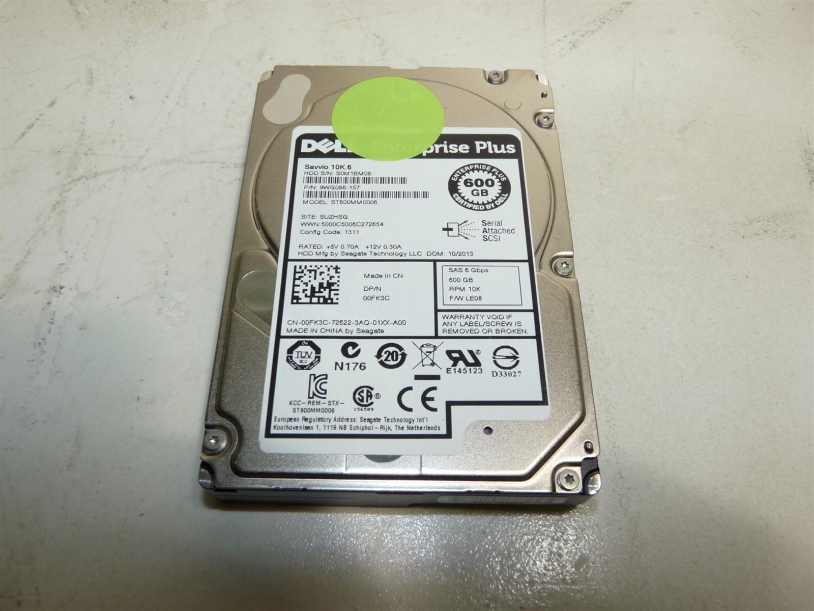"""TCGGM DELL 600GB 10K SAS 2.5/"""" 6Gb//s HDD ENTERPRISE PLUS"""