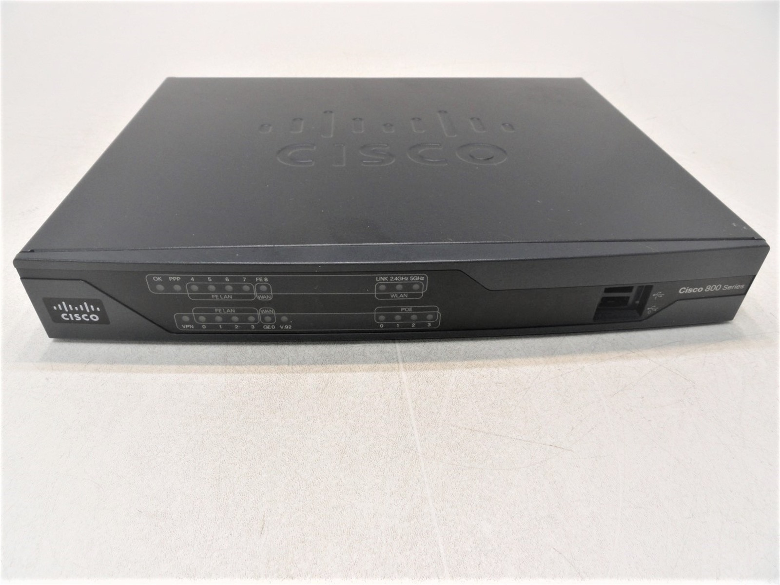 CISCO CISCO891-K9 Fast Ethernet Service Router with 256F//512D