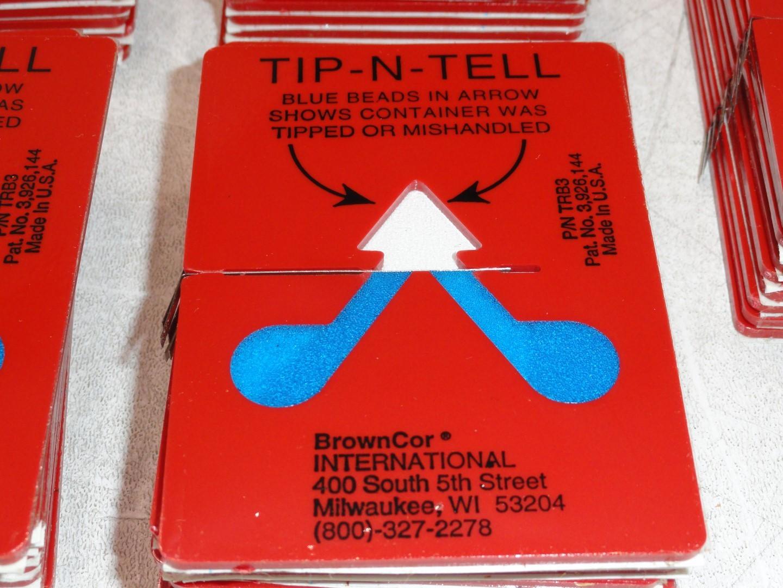 3 ULINE Tip N Tell Shipping Mailing Drop Shipment Handling Indicators S-866